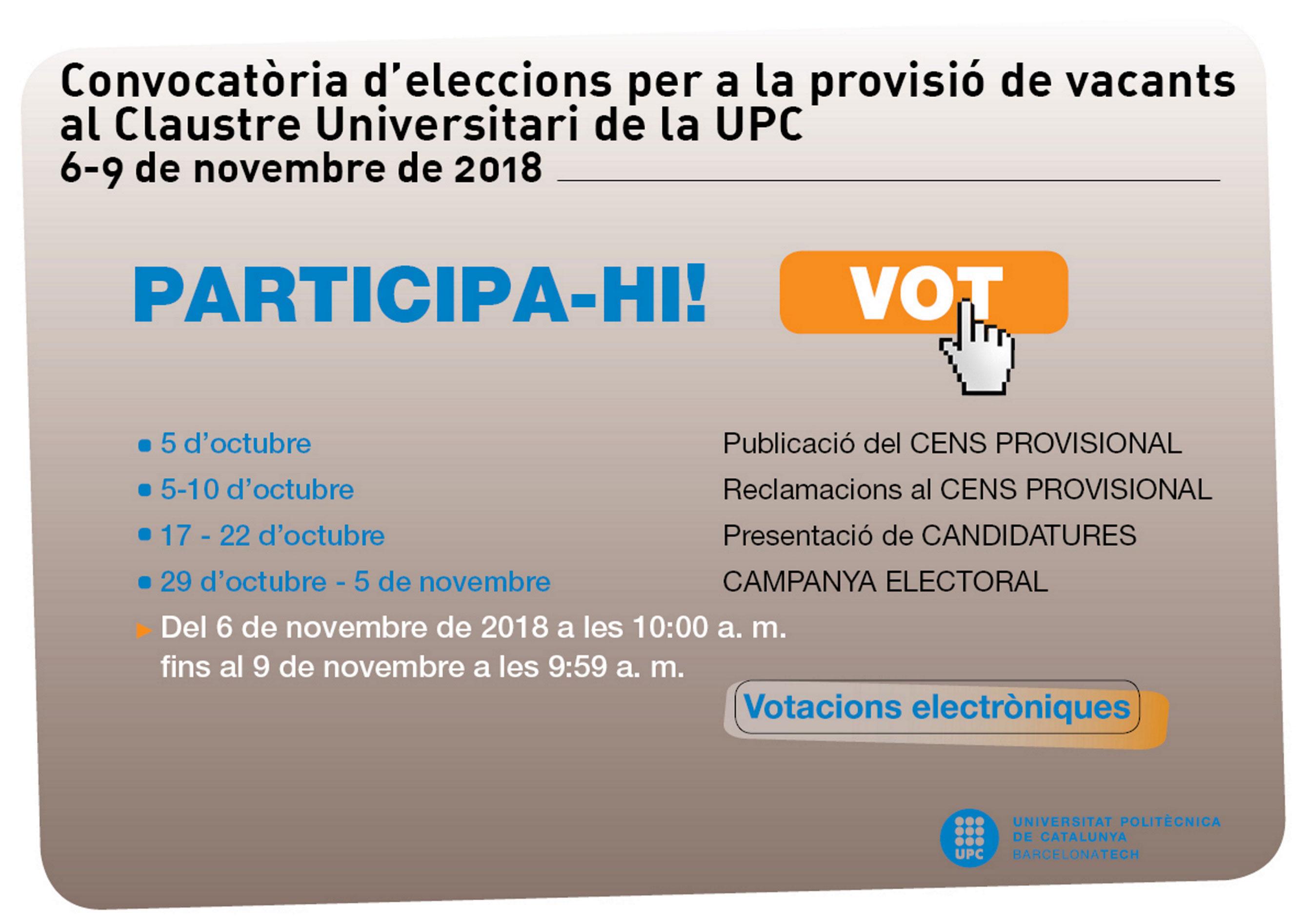 vacants CU 2018