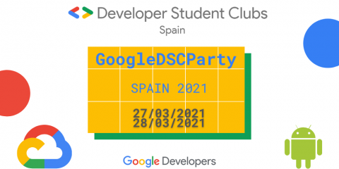 Cartell del Google DSC Party
