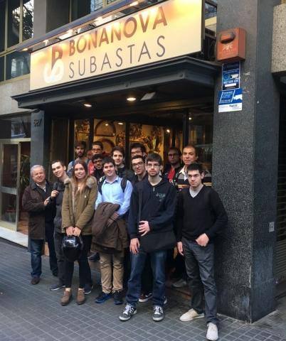Visita estudiants de SIO i PSI a Bonanova Subastas