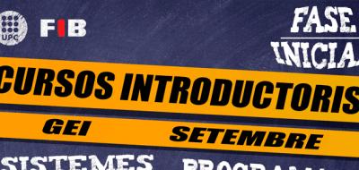 Horaris curs introductori GEI setembre 20