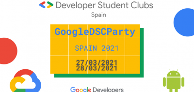 Cartell del Google DSC Party