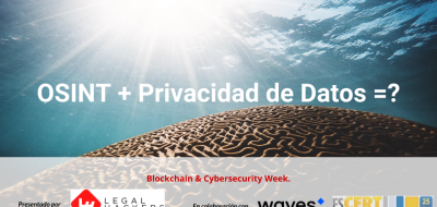 Meetup Cybersecurity Week 2019