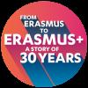 logo Erasmus+ 30 aniversari